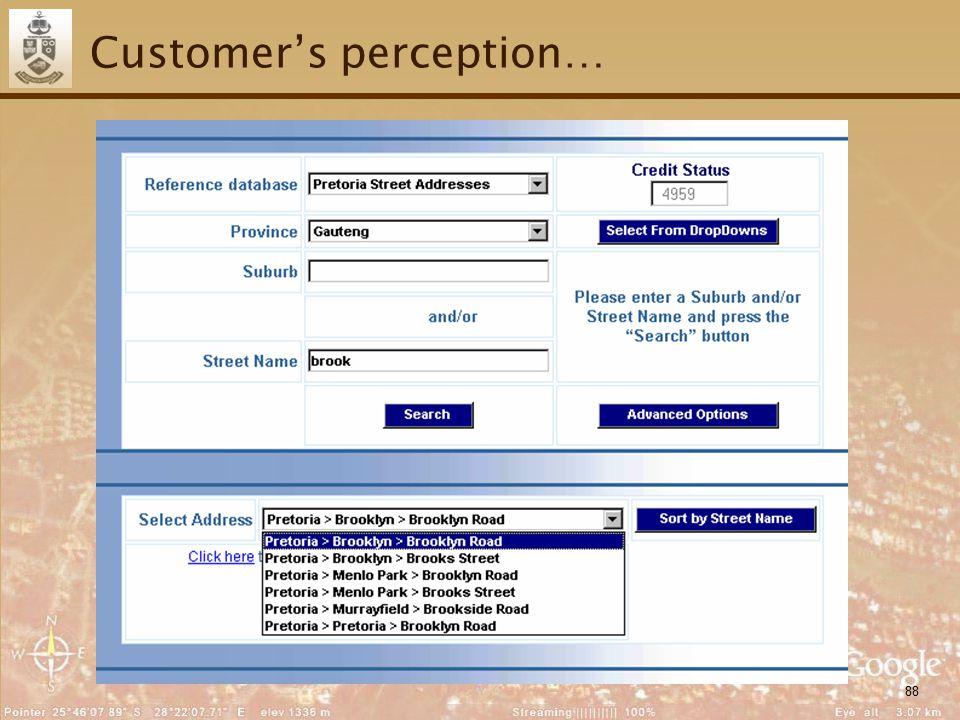 88 Customer's perception…