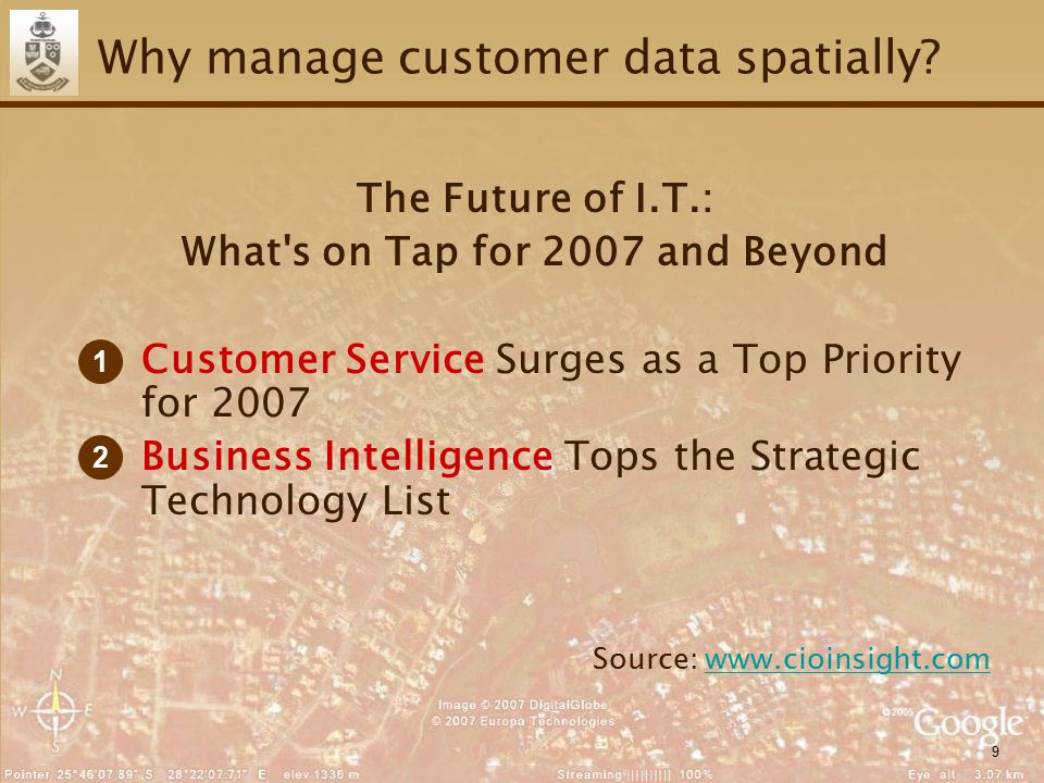 9 Why manage customer data spatially.