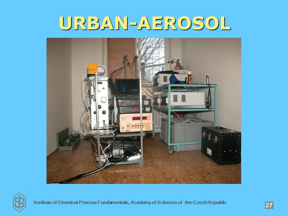 Institute of Chemical Process Fundamentals, Academy of Sciences of the Czech Republic 27 URBAN-AEROSOL