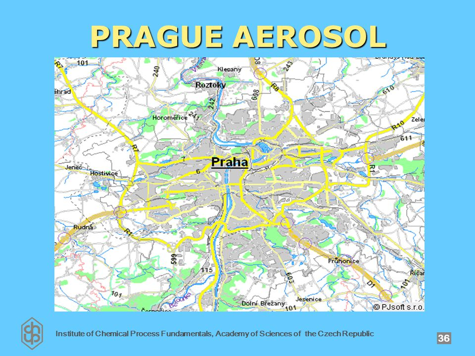Institute of Chemical Process Fundamentals, Academy of Sciences of the Czech Republic 36 PRAGUE AEROSOL