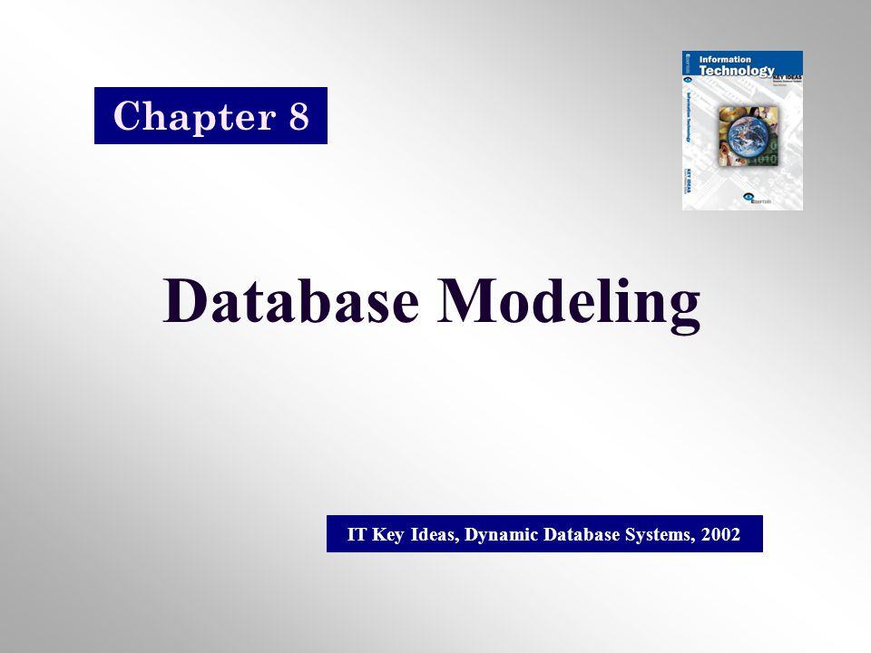 Database Modeling IT Key Ideas, Dynamic Database Systems, 2002 Chapter 8