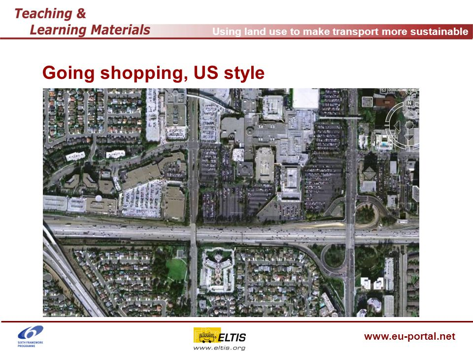 Using land use to make transport more sustainable www.eu-portal.net Going shopping, US style