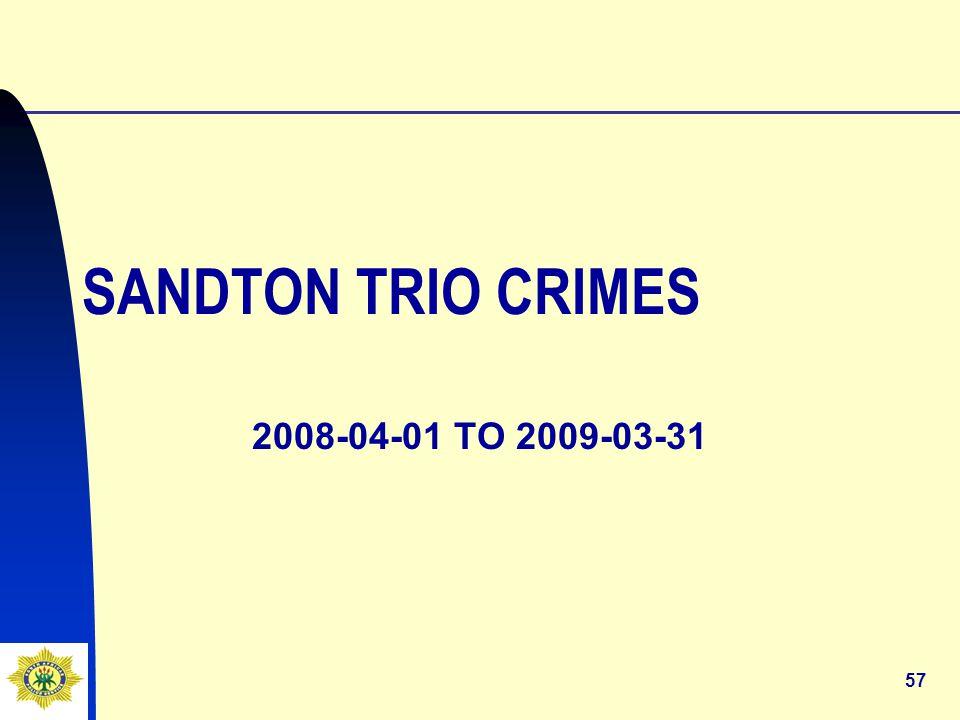 57 SANDTON TRIO CRIMES 2008-04-01 TO 2009-03-31