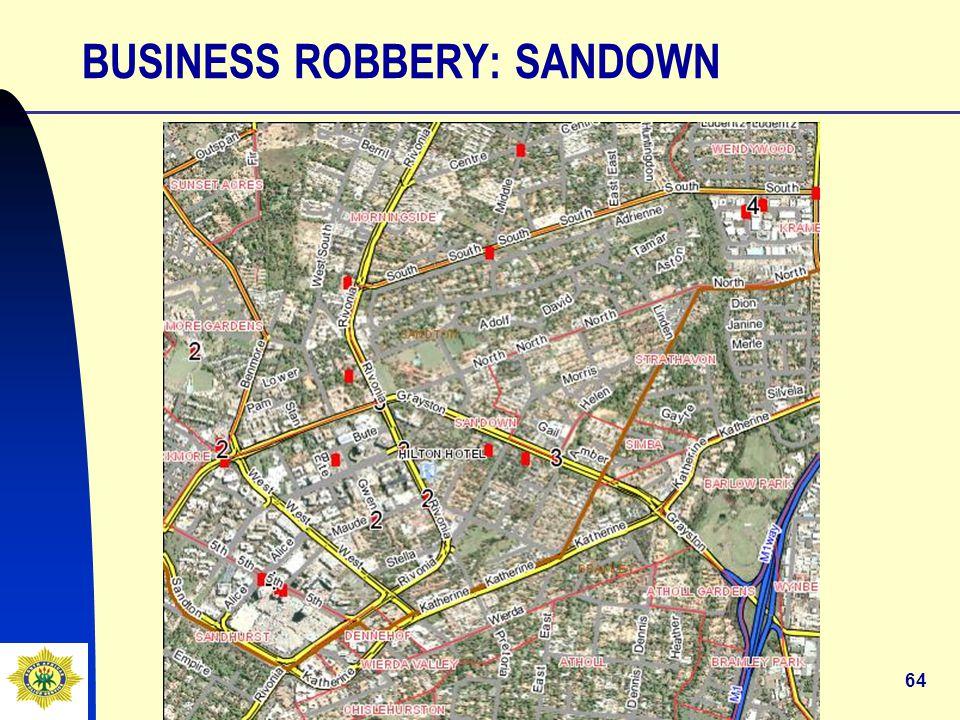 64 BUSINESS ROBBERY: SANDOWN