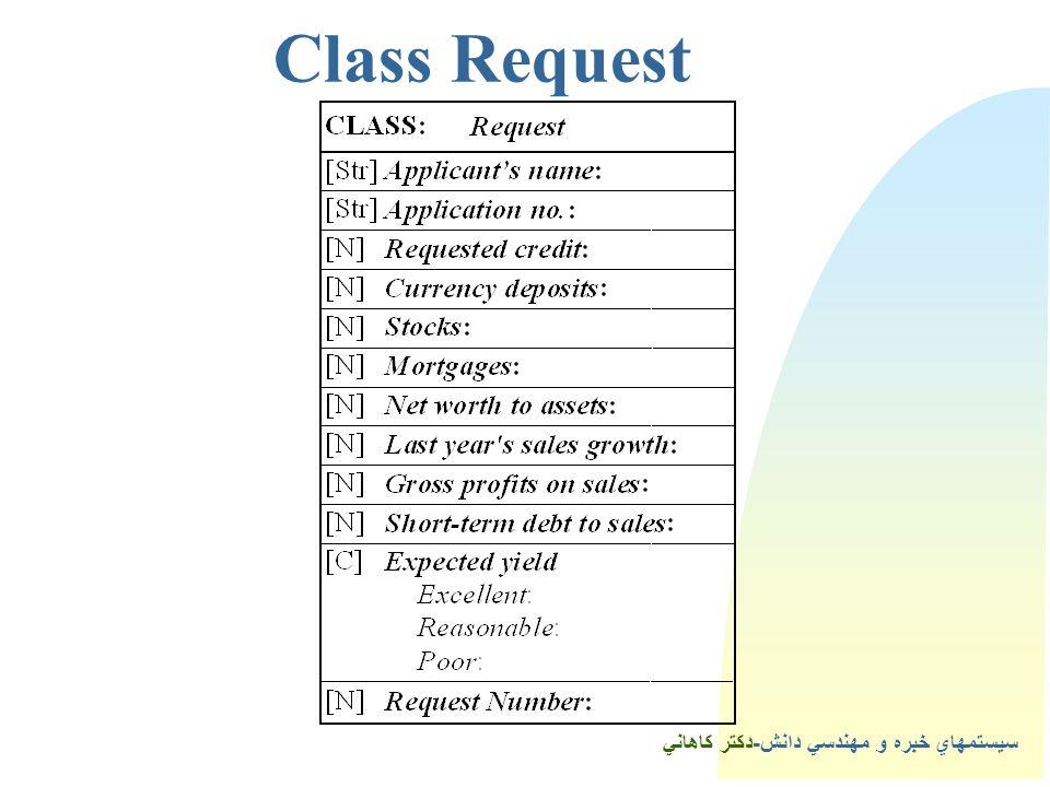 سيستمهاي خبره و مهندسي دانش-دكتر كاهاني 3Class Request
