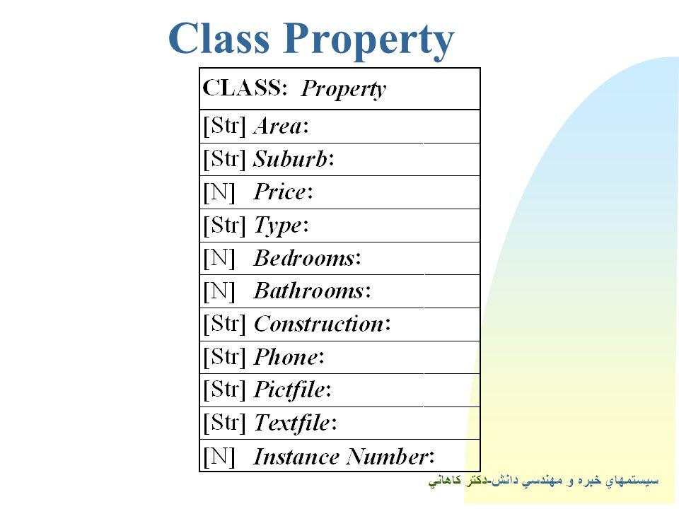 سيستمهاي خبره و مهندسي دانش-دكتر كاهاني 4Class Property