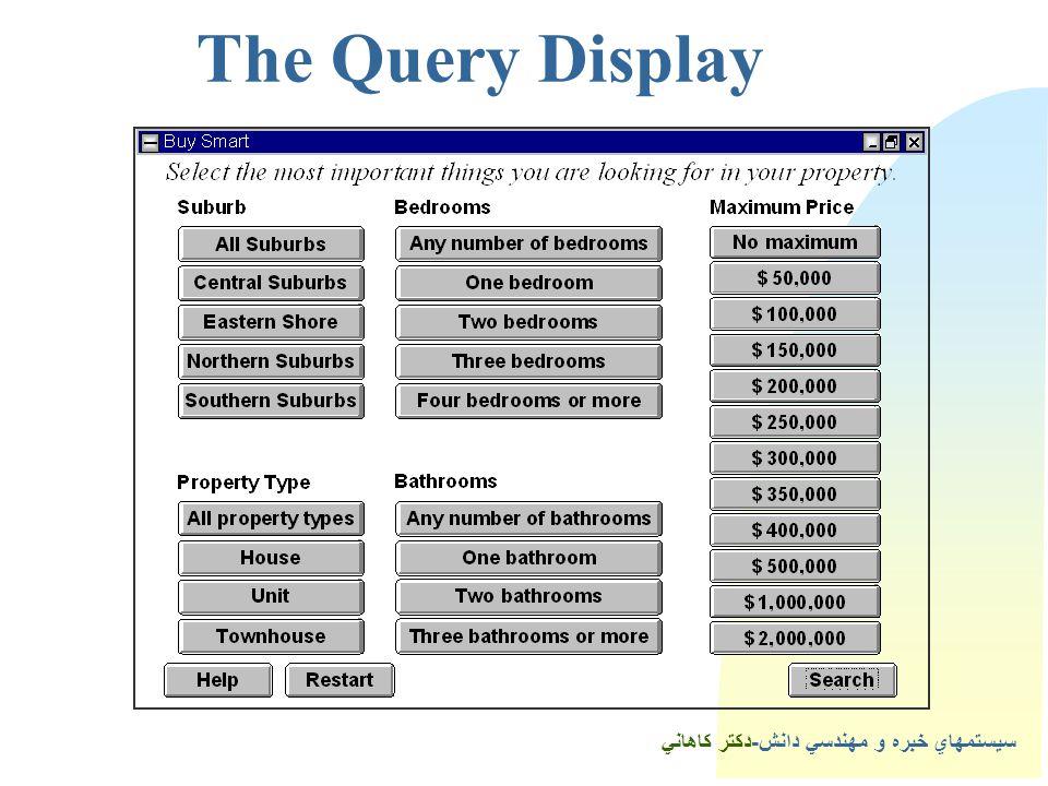 سيستمهاي خبره و مهندسي دانش-دكتر كاهاني 5The Query Display