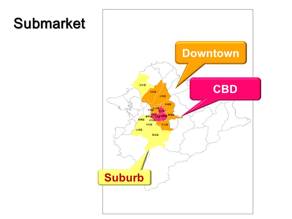 Submarket CBD Downtown Suburb