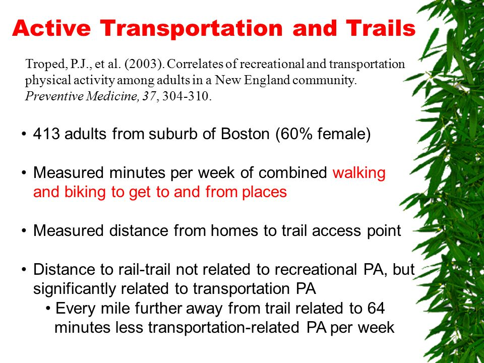 Active Transportation and Trails Troped, P.J., et al.
