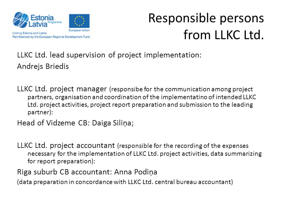 Responsible persons from LLKC Ltd.LLKC Ltd.