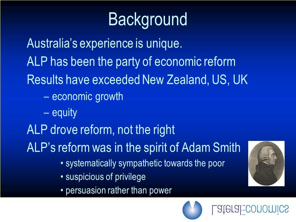 3 Background Reform gradually morphed into deregulatory formula Now encountering diminishing returns.