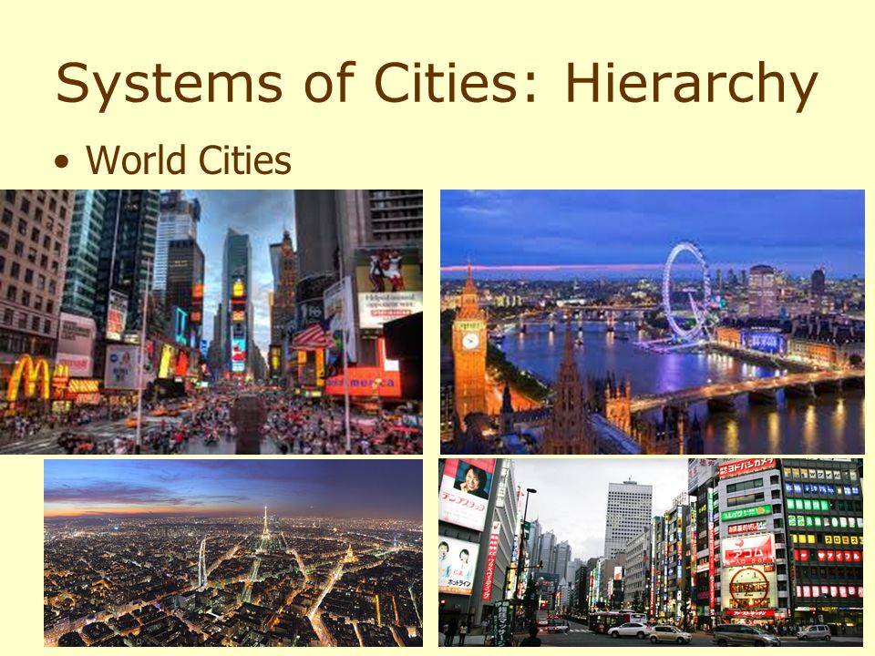 Systems of Cities: Hierarchy World Cities