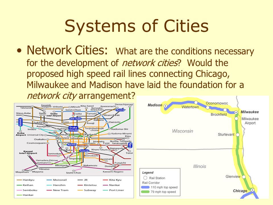 Systems of Cities Network Cities: What are the conditions necessary for the development of network cities.