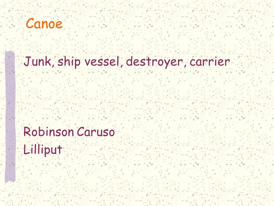 Canoe Junk, ship vessel, destroyer, carrier Robinson Caruso Lilliput