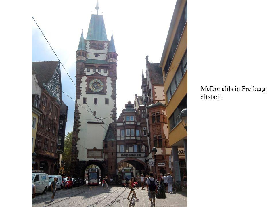 McDonalds in Freiburg altstadt.