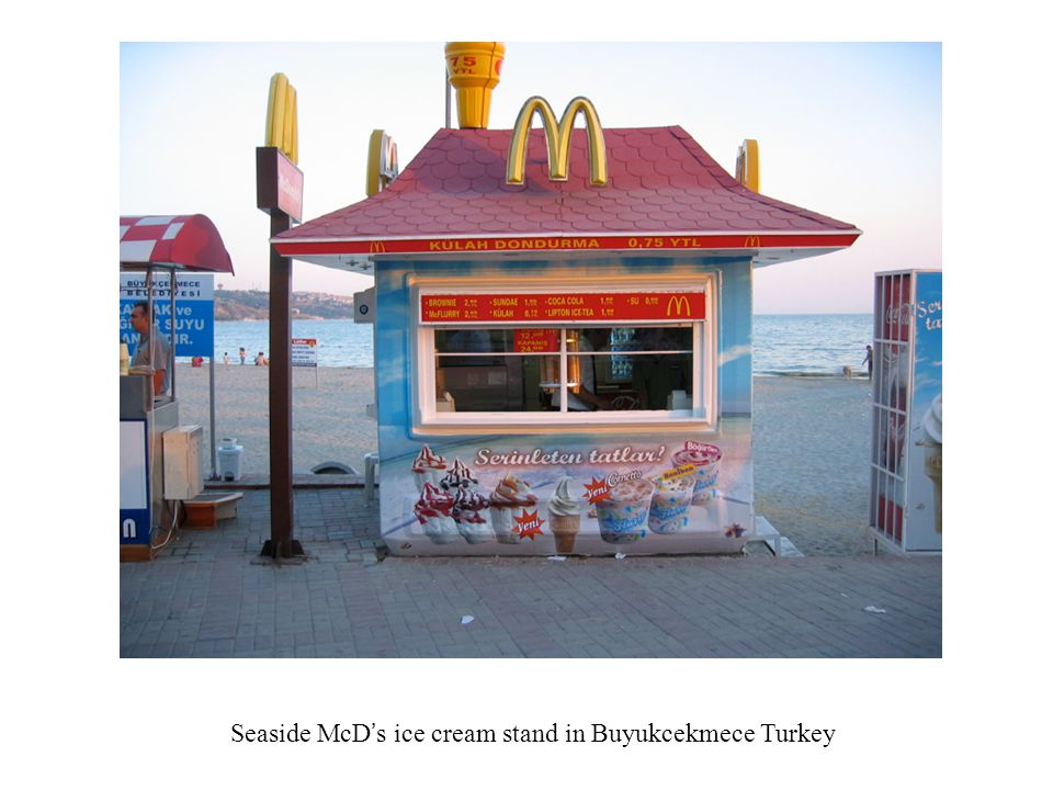 Seaside McD's ice cream stand in Buyukcekmece Turkey