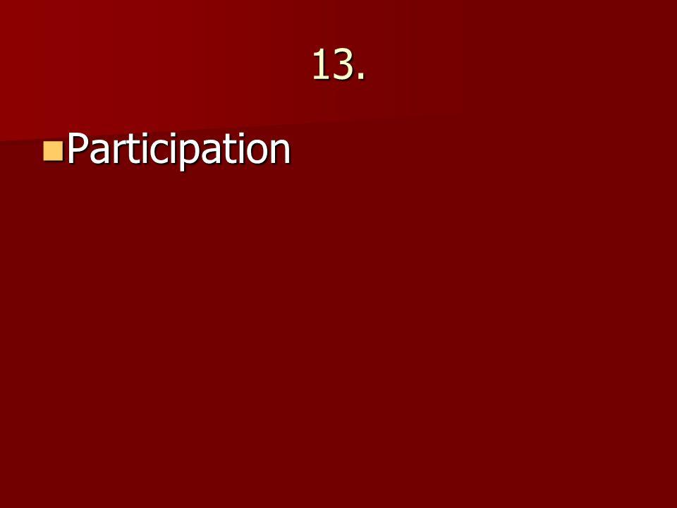 13. Participation Participation