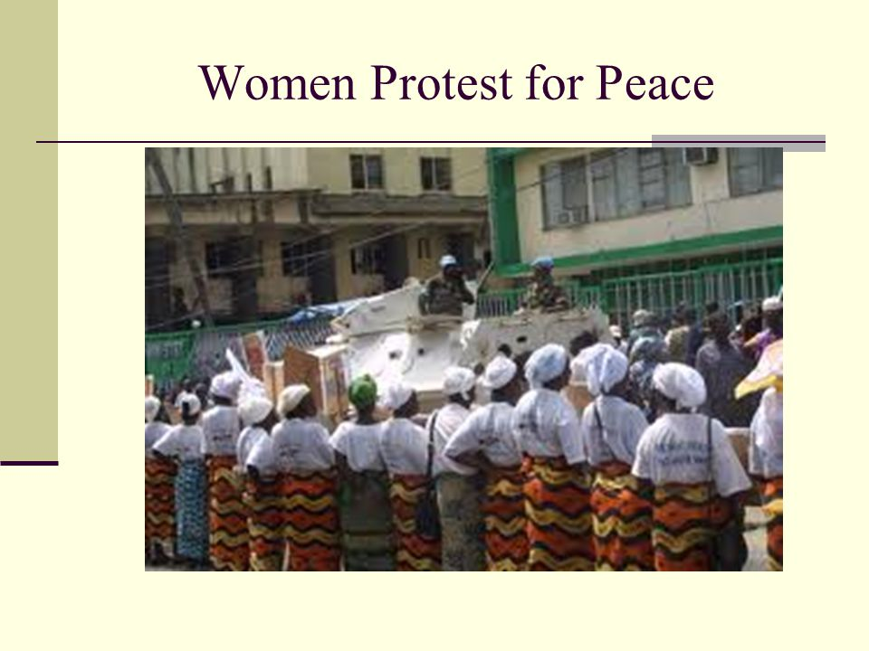Women Protest for Peace