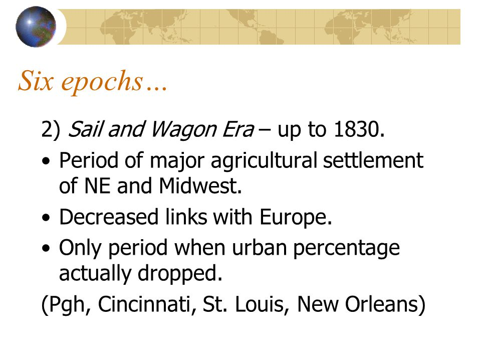 More epics… 3) Rail and Steam Epoch – 1830-1870.Entire continent opens up.