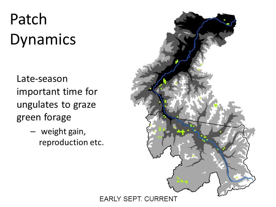 Implications 5 degree C growing season temperature increase EARLY SEPT.