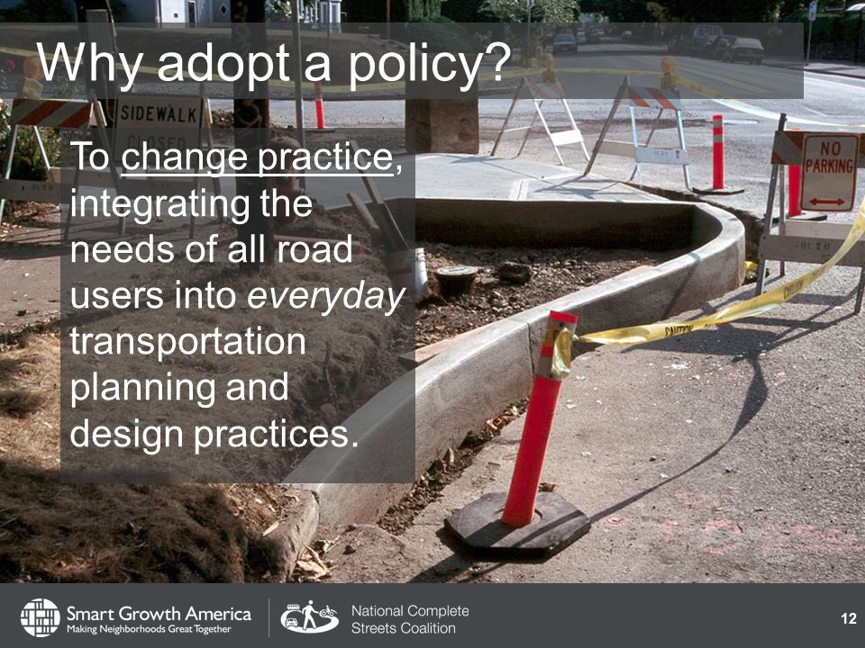 Why adopt a policy.