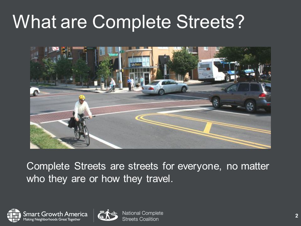 What are Complete Streets.