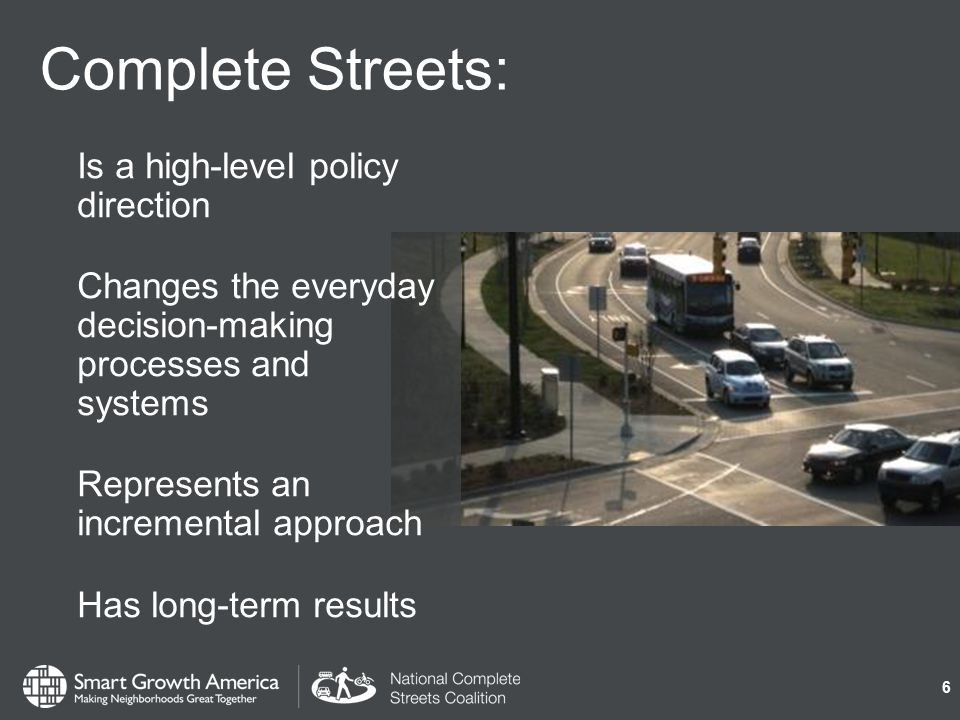 Why adopt a policy? To create fast, low- cost, and high- impact changes in your community. 17