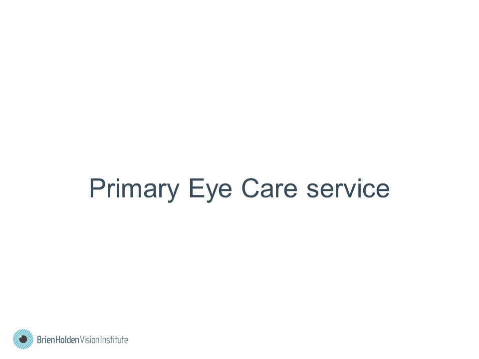 Primary Eye Care service
