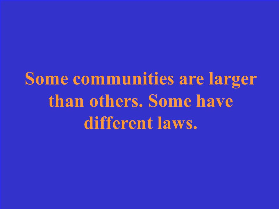 In what ways are communities different
