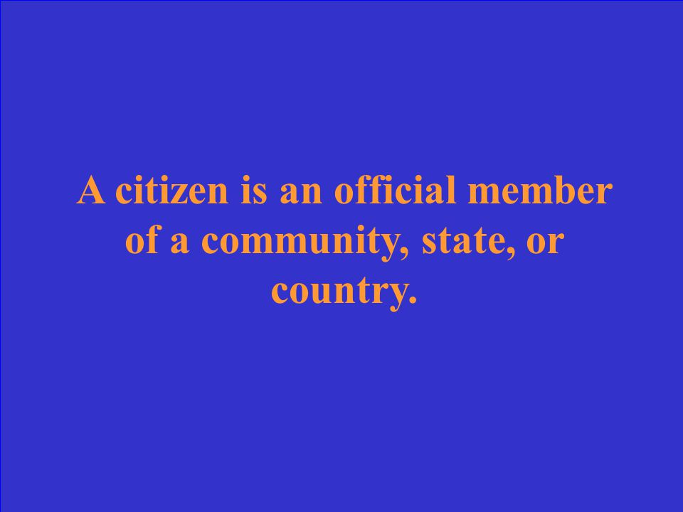 What is a citizen