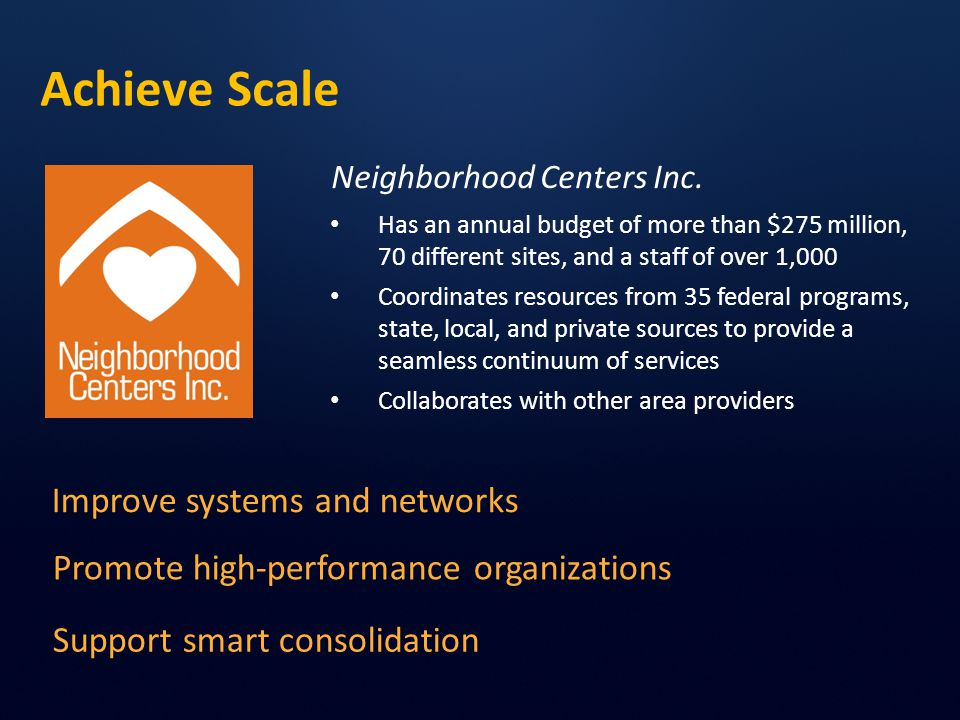 Achieve Scale Neighborhood Centers Inc.