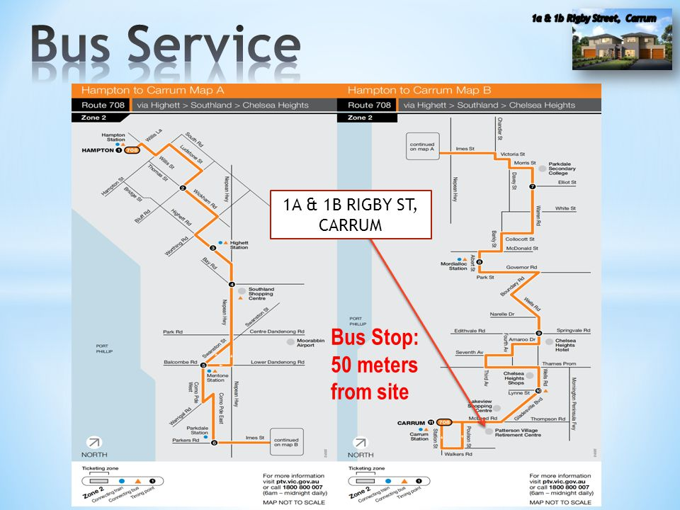 Bus Stop: 50 meters from site 1A & 1B RIGBY ST, CARRUM