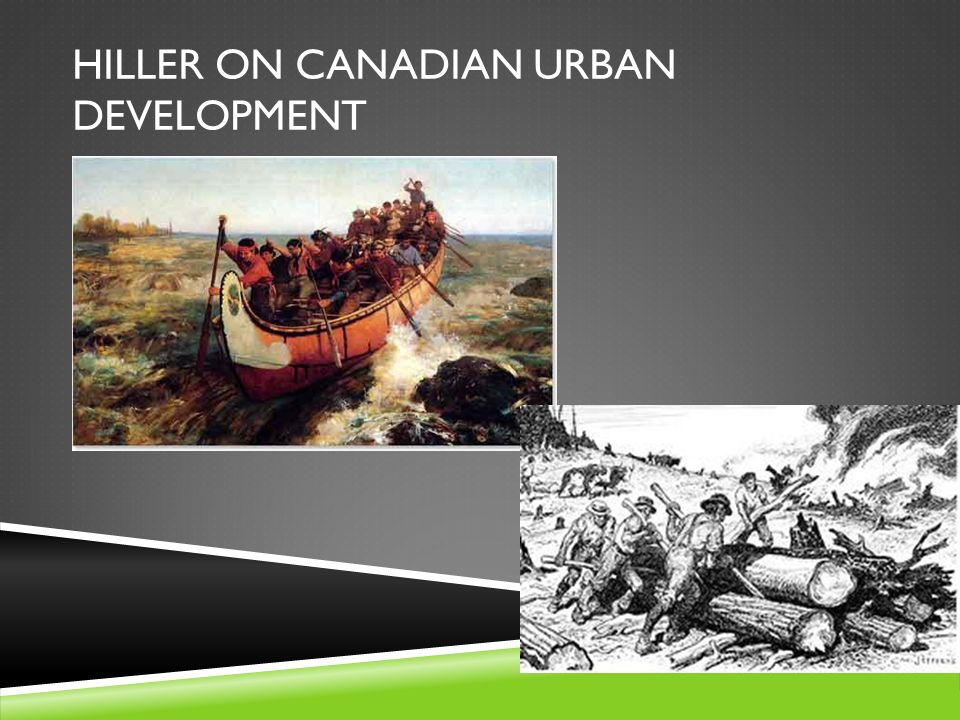 HILLER ON CANADIAN URBAN DEVELOPMENT  Manitoba became a province in 1870.