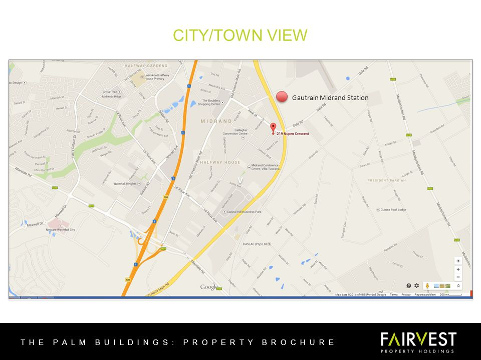 CITY/TOWN VIEW THE PALM BUILDINGS: PROPERTY BROCHURE v v Gautrain Midrand Station