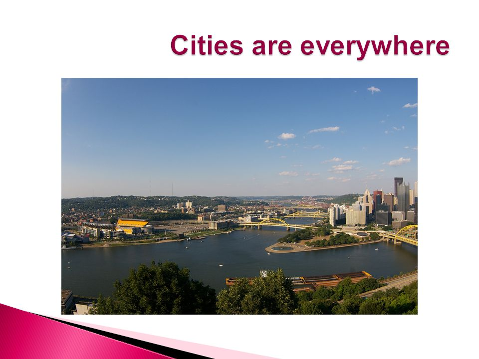  Is a continuous development that contains a central city, many nearby cities, towns and suburbs.