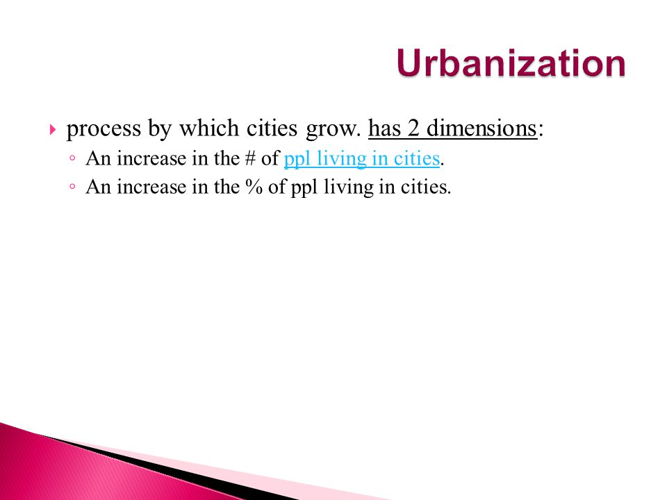  Nucleated-one or more clear core areas.People who live in them work in non-agricultural jobs.
