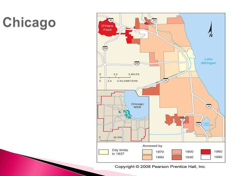  Density gradient- Density change in an Urban area.