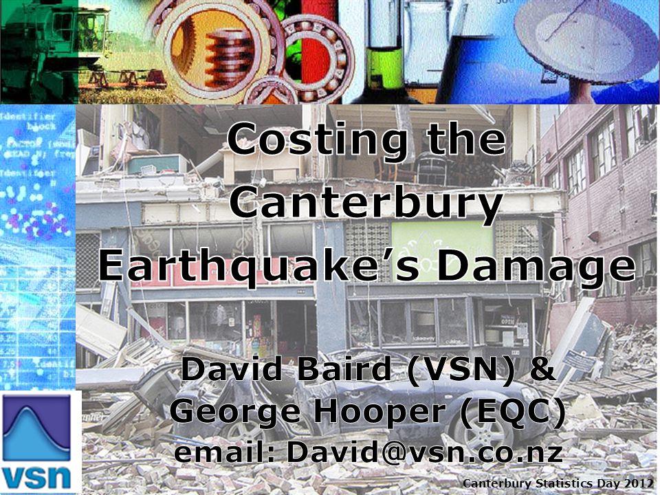 Canterbury Statistics Day 2012