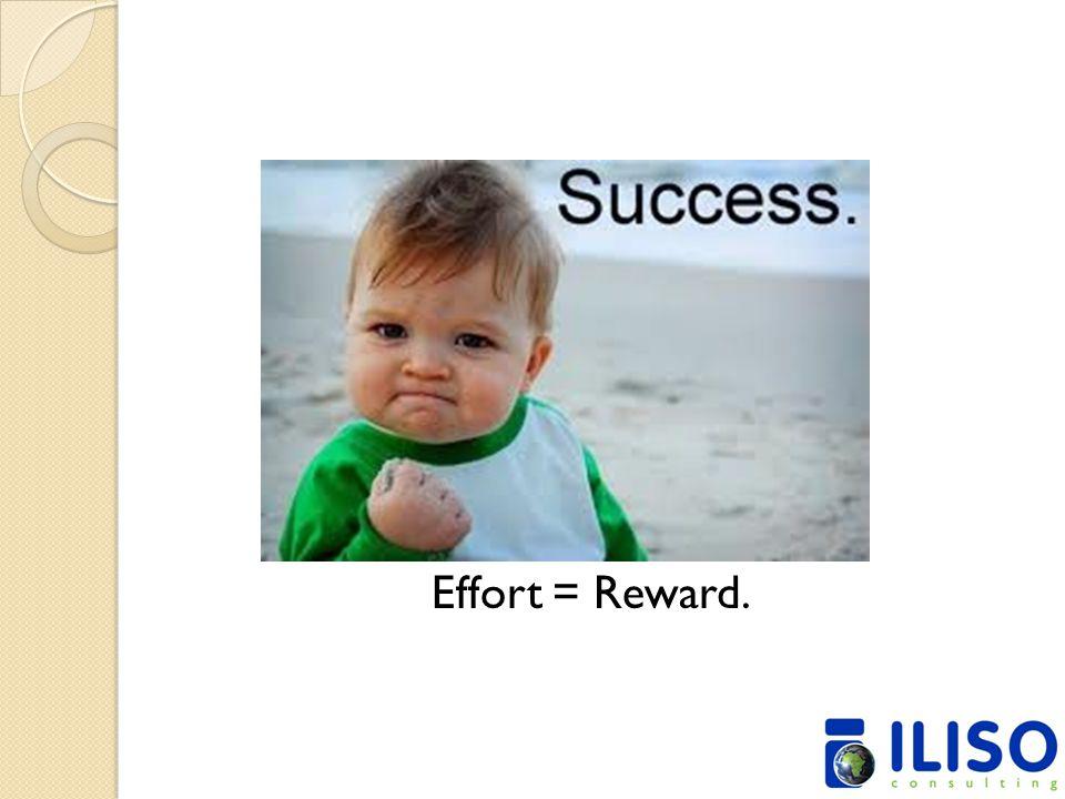 Effort = Reward.