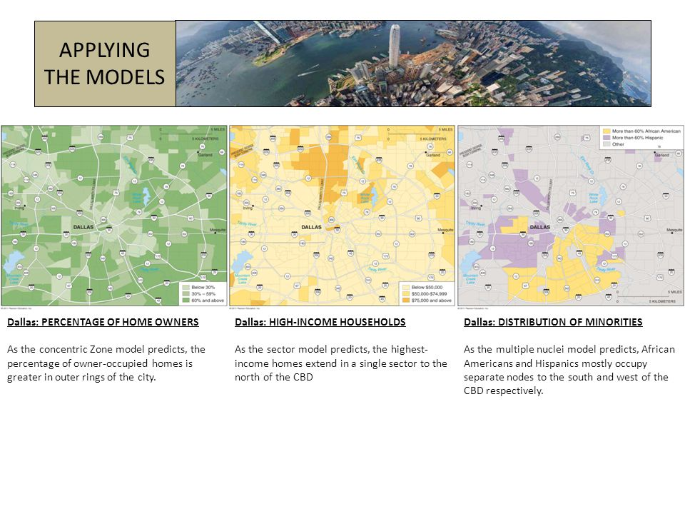 EUROPEAN CITIES American urban areas differ from those in other countries (both MDCs and LDCs) around the world.