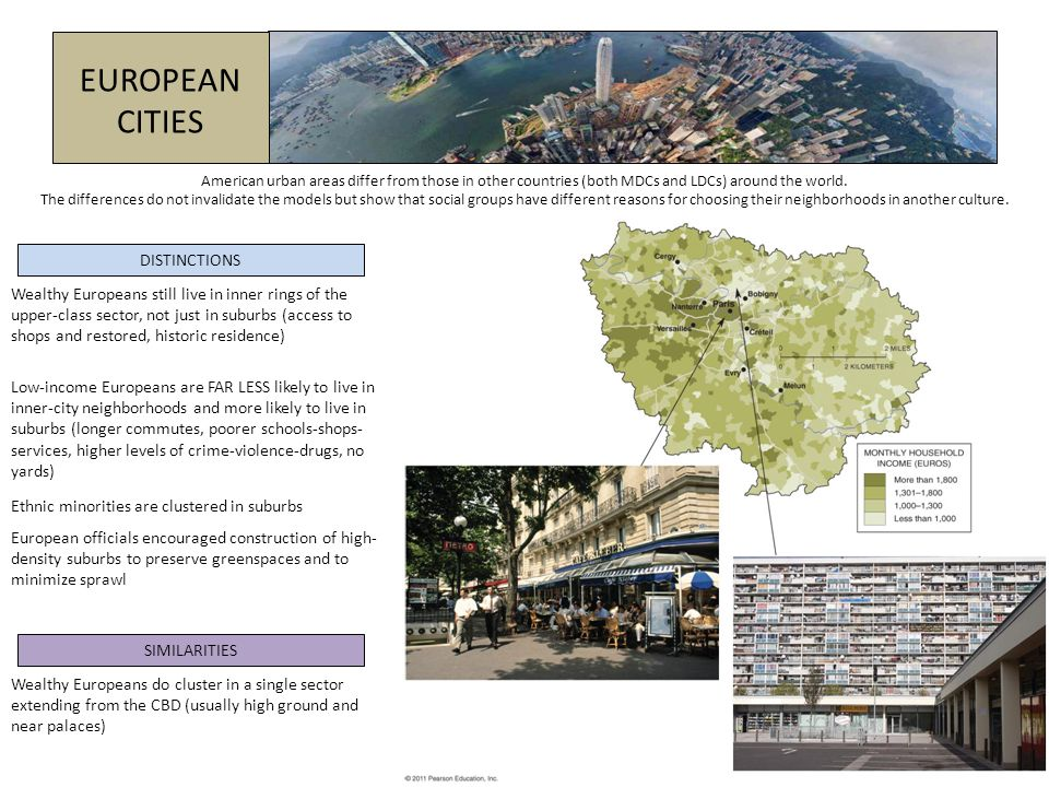LESS DEVELOPED COUNTRIES European colonial policies left a heavy mark on the development of many LDC cities.