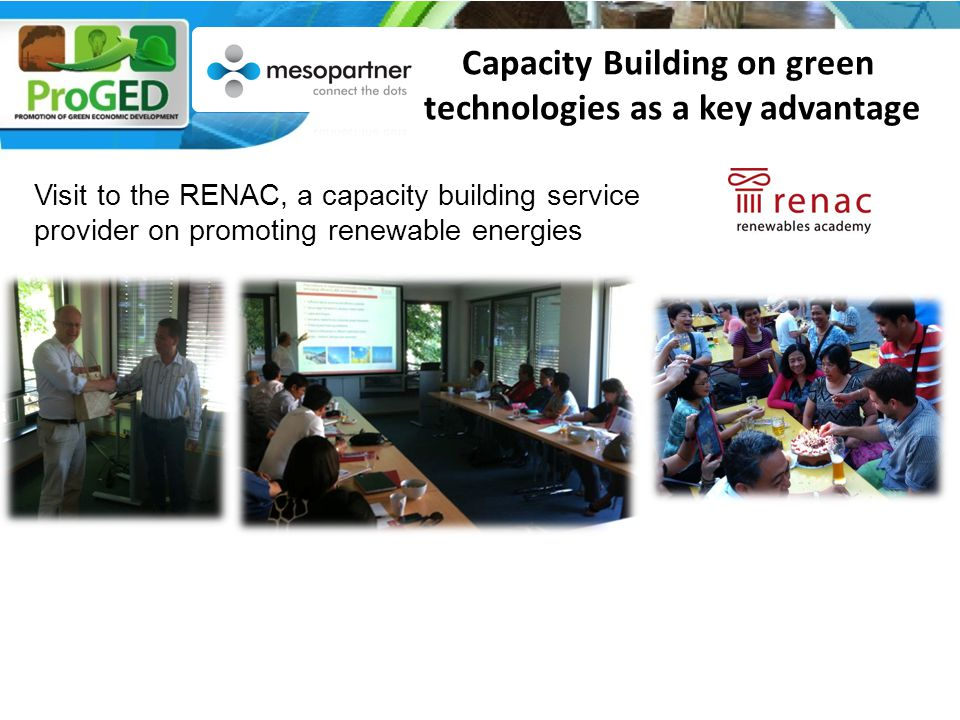 Visit to the RENAC, a capacity building service provider on promoting renewable energies Capacity Building on green technologies as a key advantage