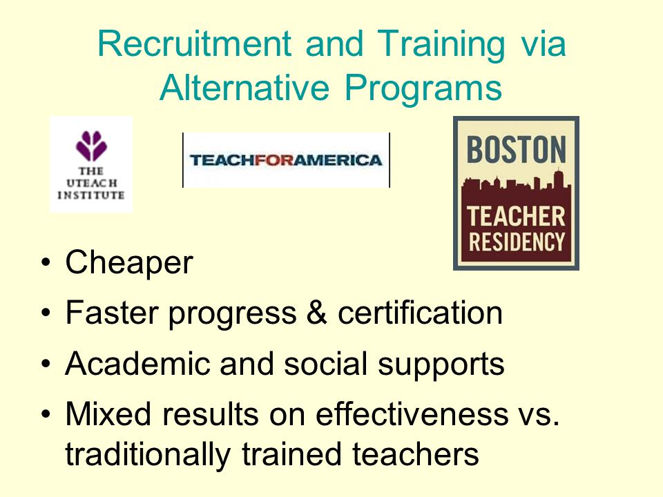Cheaper Faster progress & certification Academic and social supports Mixed results on effectiveness vs.