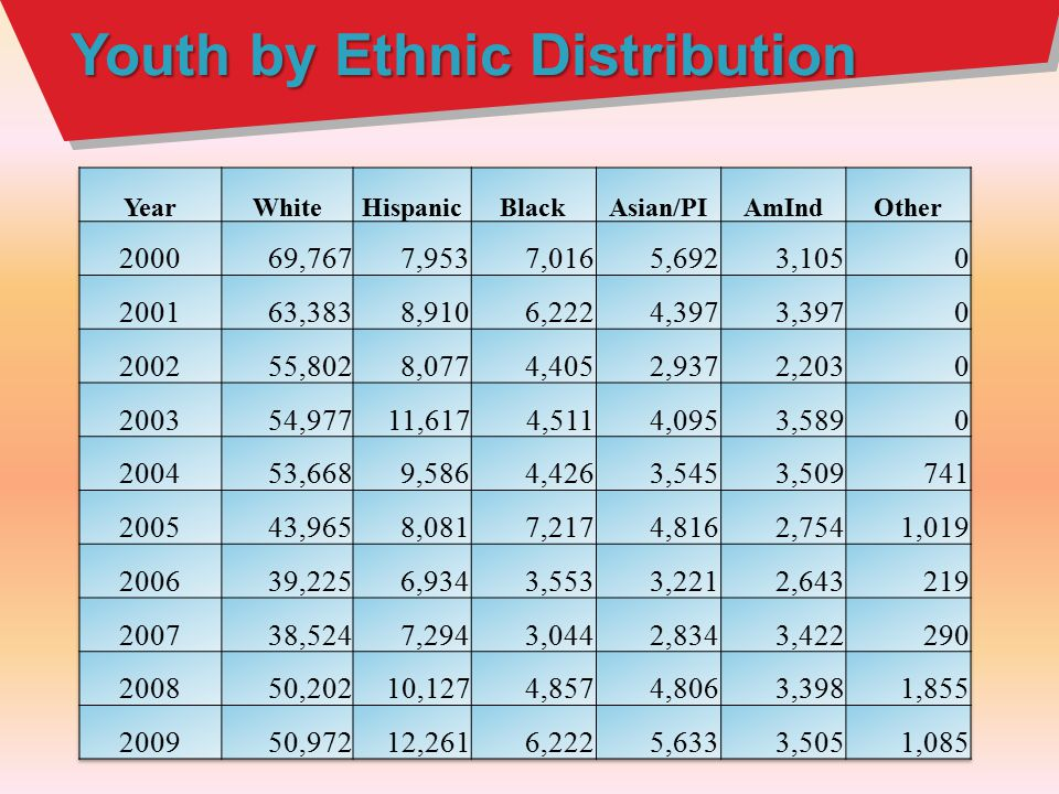 Youth by Ethnic Distribution