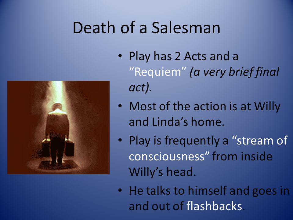 Death of a Salesman Play has 2 Acts and a Requiem (a very brief final act).