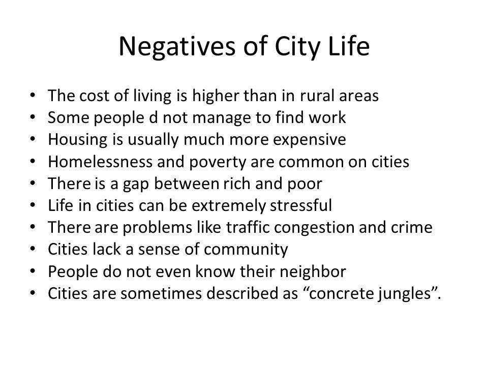 More and more people are migrating to cities in search of a better life, but city life can be extremely difficult.