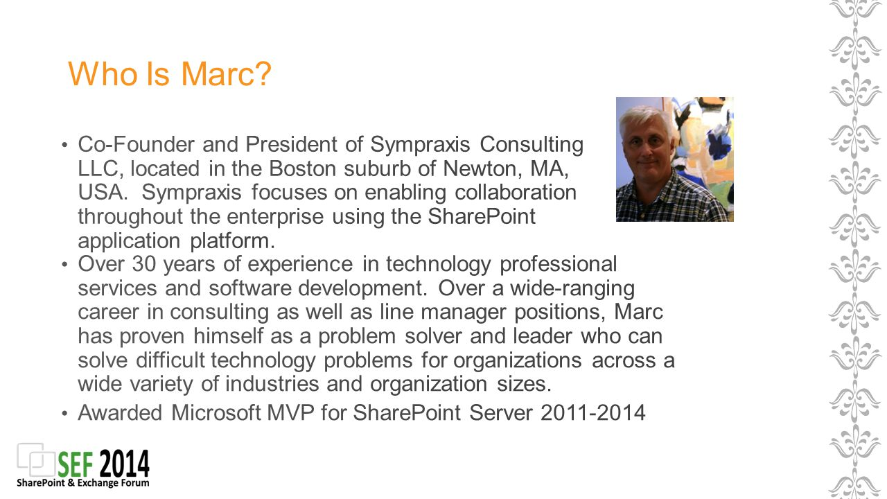 Who Is Marc?