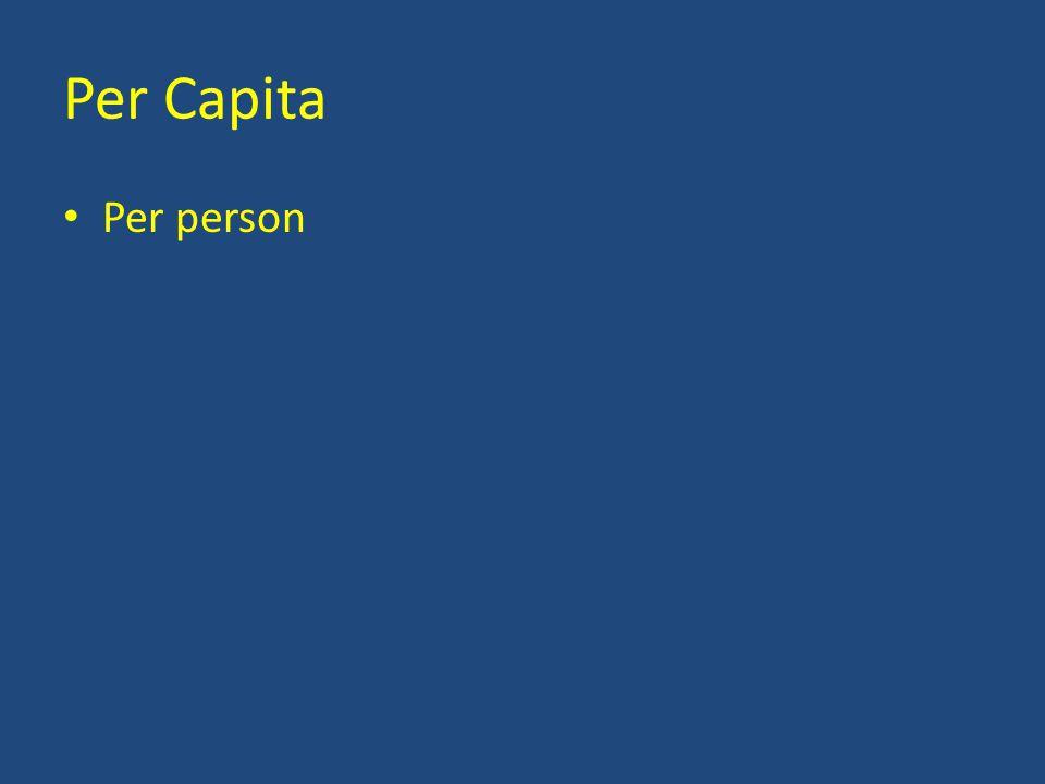 Per Capita Per person
