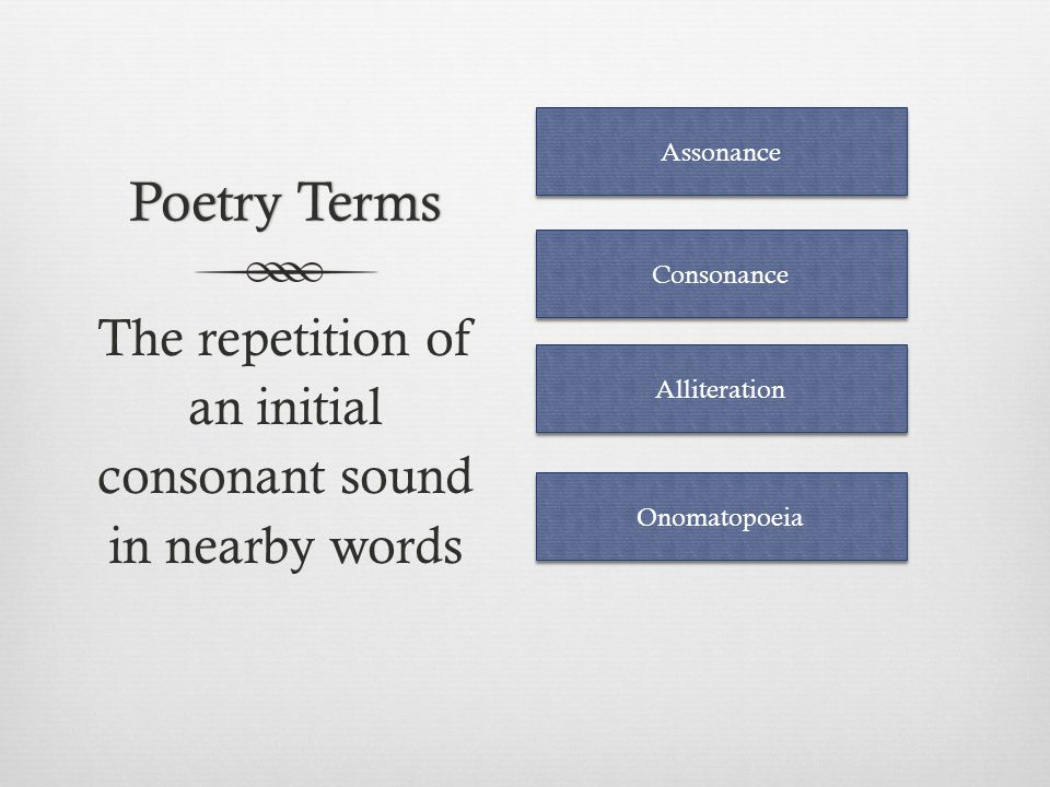 Literary TermsLiterary Terms A comparison using like or as Simile Metaphor Onomatopoeia Personification