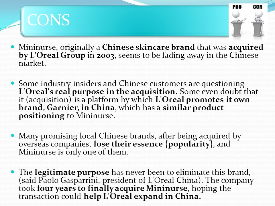 CONS Mininurse, originally a Chinese skincare brand that was acquired by L'Oreal Group in 2003, seems to be fading away in the Chinese market. Some in